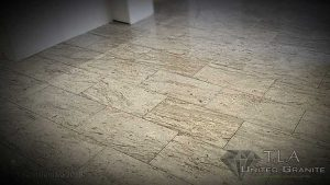 Grey granite floor